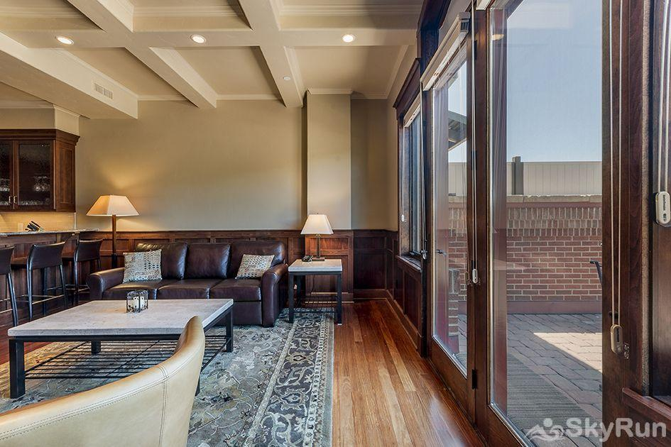The Victoria 4 The outdoor patio has heated floors, and it is right by the living room.