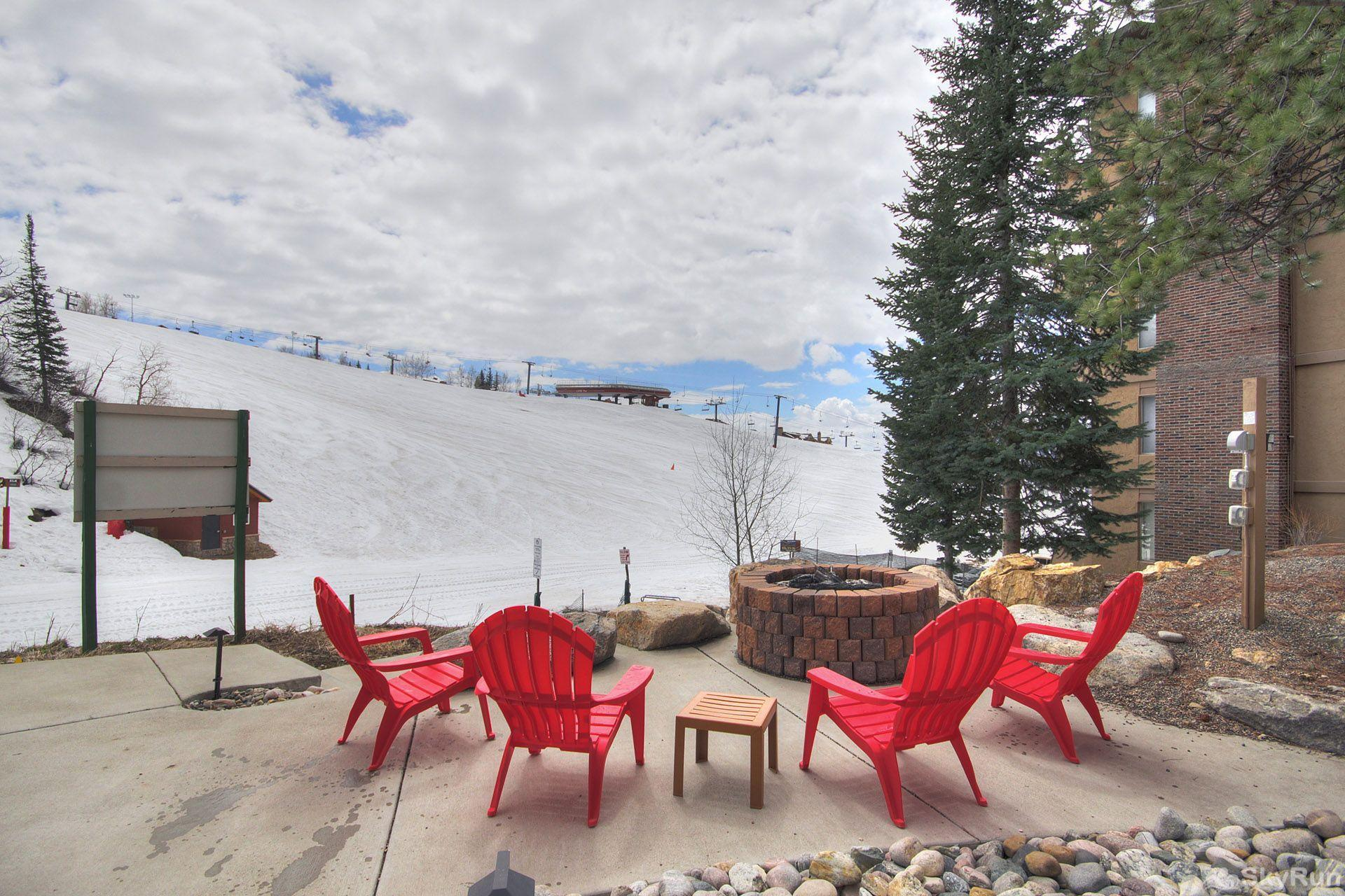 Storm Meadows East E31 Watch the skiiers, while eating Smores by the outdoor fireplace.