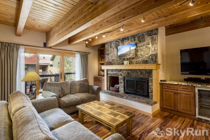 Waterford 10 Entertain in this living room which has a fireplace, beverage cooler & HDTV.